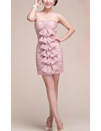 New Style Sweetheart Sheath Short Chiffon Homecoming/ Graduation Dresses