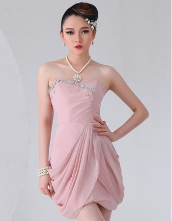 Charming Chiffon Short Sheath Sweetheart Homecoming Dresses
