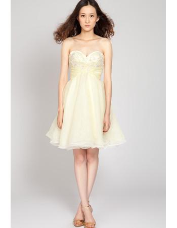 Pretty A-Line Sweetheart Short Chiffon Junior Homecoming Dresses