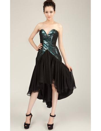 Custom Sheath Sweetheart High-Low Chiffon Homecoming Dresses
