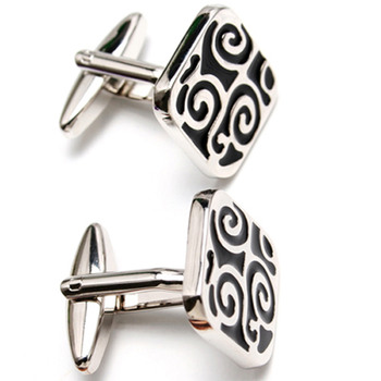 Discount Square Carved Mens' Cufflinks for Party/ Wedding/ Business