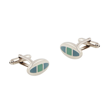 Oval Enamel Ornaments Mens' Cufflinks for Party/ Wedding/ Business