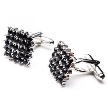 Square Swarovski with Diamond Cufflinks for Party/ Wedding/ Business