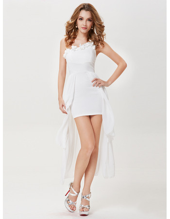 Conscious One Shoulder High-Low Asymmetric Chiffon Homecoming/ Party Dresses