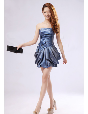 Regency Sheath/ Column Strapless Short Taffeta Homecoming/ Party Dresses