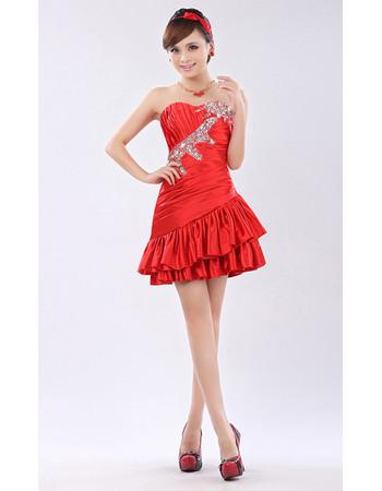 Wholesale A-Line Sweetheart Short Taffeta Homecoming/ Party Dresses