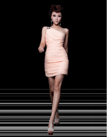 Chic Sheath/ Column One Shoulder Short/Mini Chiffon Homecoming/ Party Dresses