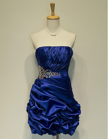 nexpensive Strapless Short Taffeta Homecoming/ Party Dresses