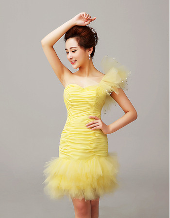 Spectacular Sexy Sheath/ Column One Shoulder Short Homecoming/ Party Dresses