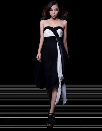 Unusual Sexy Empire Sweetheart Knee Length Satin Homecoming Dresses