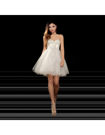 Discount Cute A-Line Sweetheart Short Homecoming/ Party Dresses with Simple Style
