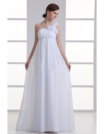 Vintage Empire Full Length Chiffon Maternity Wedding Dresses with ...