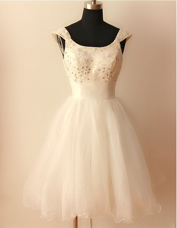 Discount Ball Gown Cap Sleeves Lace Reception Wedding Dresses with Crystal Detailing