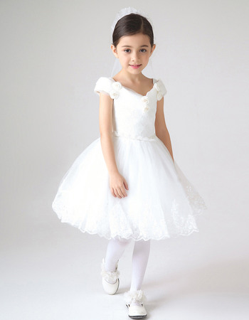 Beautiful off the shoulder short lace and tulle girls first beautiful off the shoulder short lace and tulle girls first communion dresses white mightylinksfo