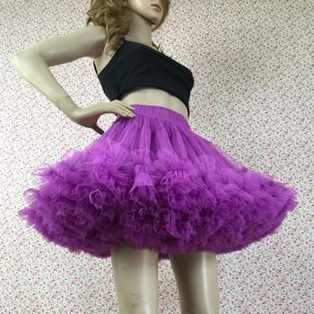 Women's Sexy Lavender Tulle Mini Tutus/ Skirts/ Wedding Petticoats