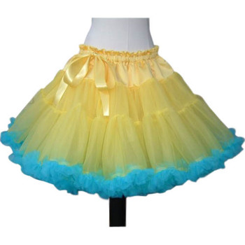 Girls' Cute Party A-Line Rainbow Multi-Colored Tulle Mini Tutus/ Skirts