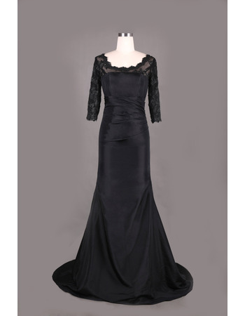 Affordable V-Neck Plus Size Pleated Chiffon Mother Dresses for Party with 3/4 Length illusion Sleeves