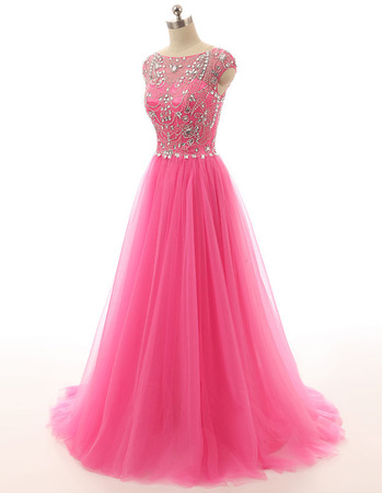 Discount A-Line Sweep Train Organza Evening/ Prom/ Formal Dresses