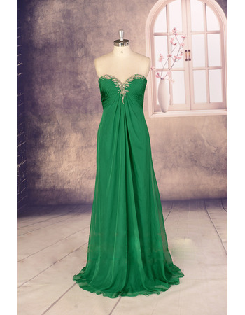 New Style Empire Sweetheart Long Chiffon Evening/ Prom Dresses