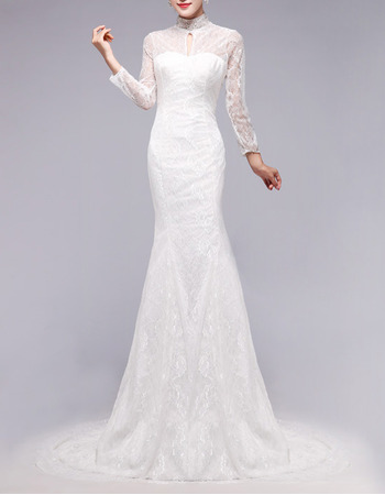 Mandarin Collar Wedding Dress