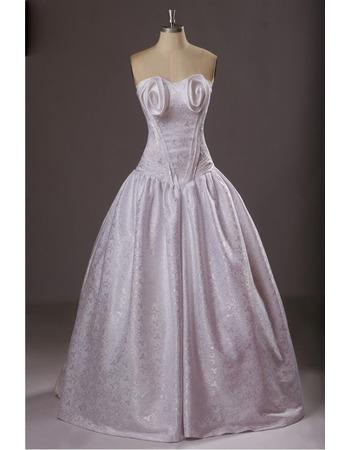 Formal Ball Gown Sweetheart Floor Length Satin Evening Dresses