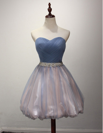 Perfect Sweetheart Short Tulle Homecoming Party Dresses with Bubble Hem