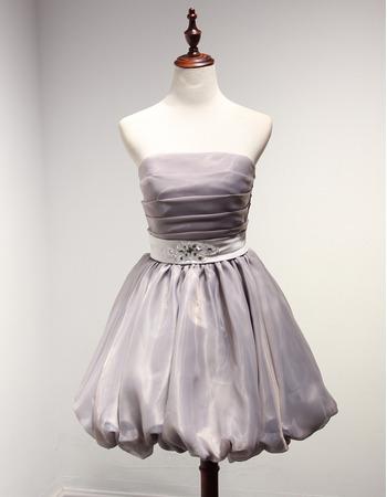 Discount Ball Gown Strapless Short Taffeta Organza Homecoming Dresses