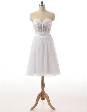 Discount Sweetheart Sleeveless Knee Length Chiffon Homecoming Dresses