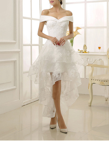 High Low Lace Wedding