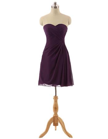 Custom Sweetheart Short Chiffon Bridesmaid/ Wedding Party Dresses