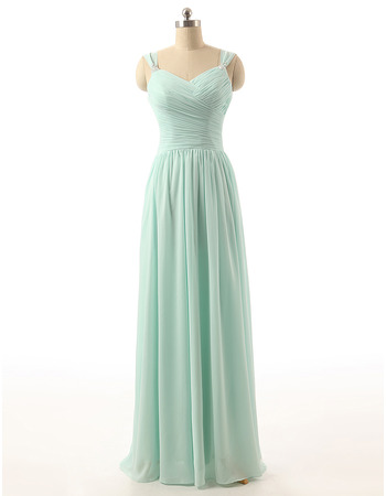 Sweetheart Floor Length Chiffon Bridesmaid/ Wedding Party Dresses