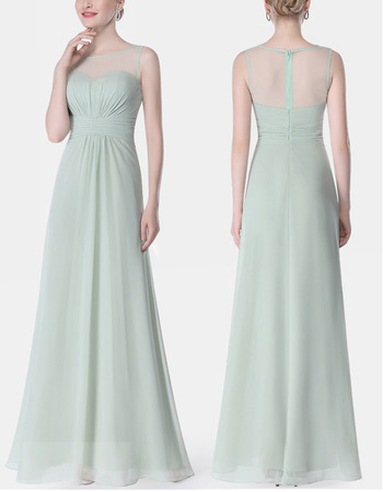 New Style Sleeveless Floor Length Chiffon Bridesmaid Dresses