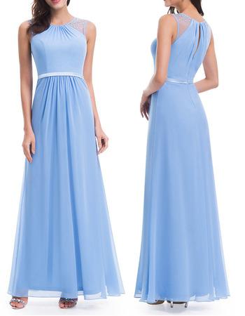 Custom Floor Length Chiffon Bridesmaid/ Wedding Party Dresses