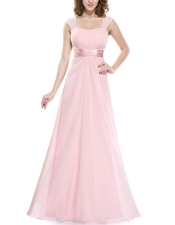 New Style Floor Length Chiffon Bridesmaid Dresses with Straps