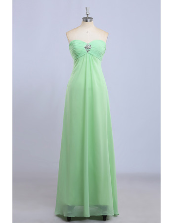 Discount Empire Sweetheart Floor Length Chiffon Bridesmaid Dresses