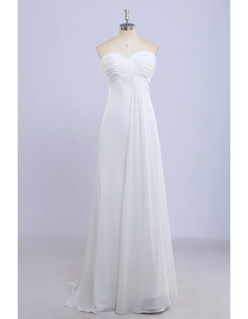 Custom Empire Sweetheart Floor Length Chiffon Bridesmaid Dresses