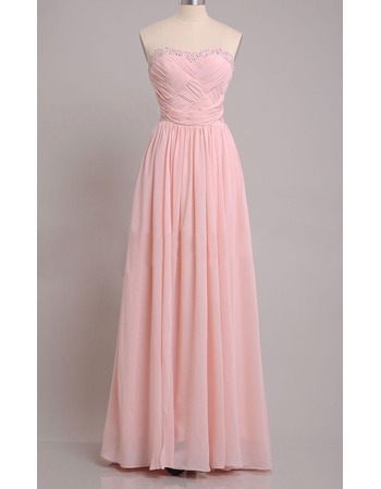 Elegance Beaded Sweetheart Chiffon Evening/ Prom Dresses with Crossover Draped Bodice