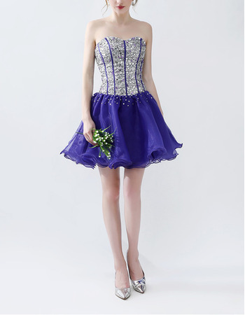 Affordable Sweetheart Mini/ Short Sequin Homecoming/ Party Dresses