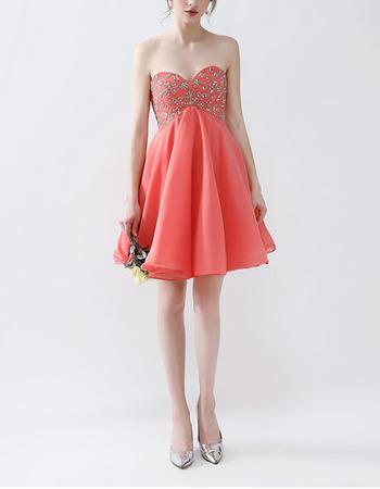 Sexy Empire Sweetheart Mini/ Short Chiffon Homecoming/ Party Dresses