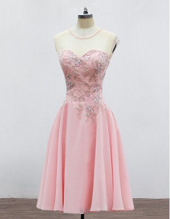 Elegant Sweetheart Mini/ Short Chiffon Homecoming/ Party Dresses