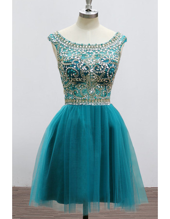 New Style Short Organza Rhinestone Homecoming/ Party Dresses