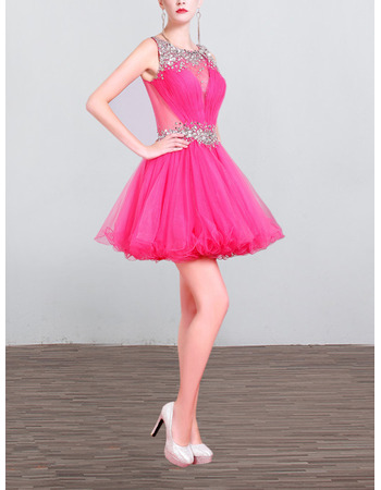 Sexy Sleeveless Mini/ Short Organza Homecoming/ Party Dresses