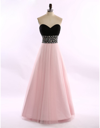 New A-Line Sweetheart Floor Length Evening/ Prom/ Formal Dresses