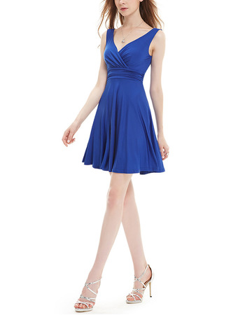 New Style V-Neck Short Chiffon Bridesmaid/ Homecoming Dresses