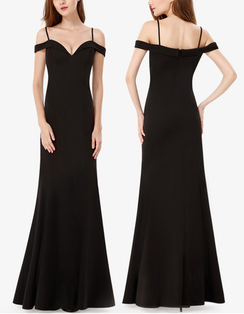 New Spaghetti Straps Floor Length Chiffon Evening Dresses