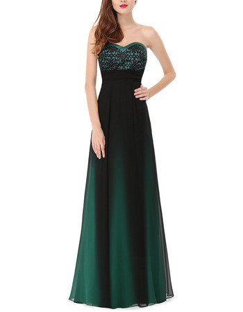 New Style A-Line Sweetheart Floor Length Satin Evening Dresses