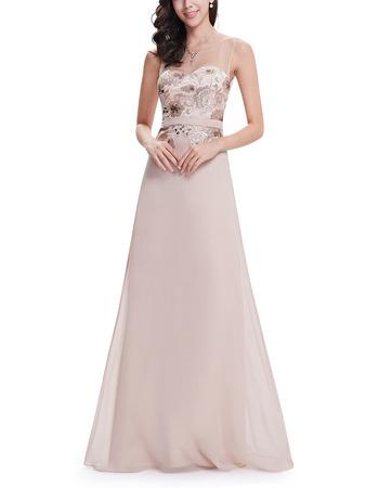 Custom Floor Length Chiffon Embroidery Evening/ Prom/ Formal Dresses