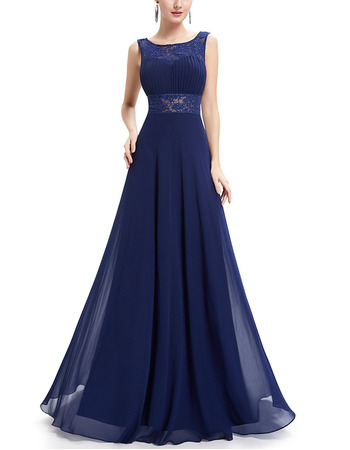 New Style Sleeveless Floor Length Chiffon Evening/ Prom Dresses