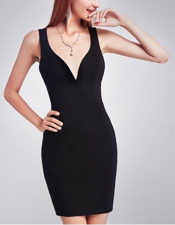 Sexy Sheath Sweetheart Short Black Homecoming/ Little Black Dresses