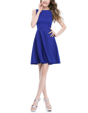 New Style A-Line Sleeveless Short Satin Homecoming Dresses